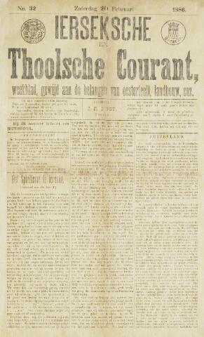 Ierseksche en Thoolsche Courant 1886-02-20