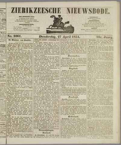 Zierikzeesche Nieuwsbode 1854-04-27
