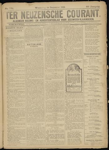 Ter Neuzensche Courant. Algemeen Nieuws- en Advertentieblad voor Zeeuwsch-Vlaanderen / Neuzensche Courant ... (idem) / (Algemeen) nieuws en advertentieblad voor Zeeuwsch-Vlaanderen 1924-12-24