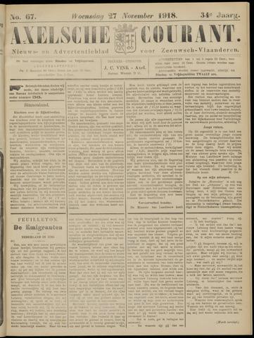 Axelsche Courant 1918-11-27