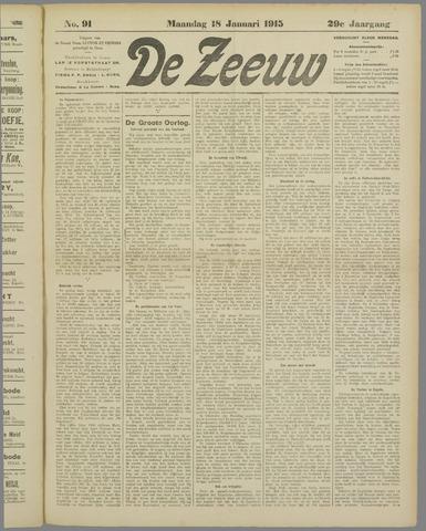 De Zeeuw. Christelijk-historisch nieuwsblad voor Zeeland 1915-01-18