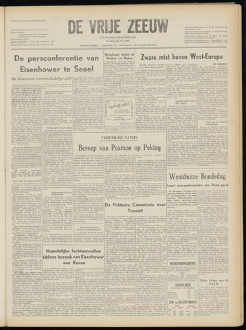 de Vrije Zeeuw 1952-12-08