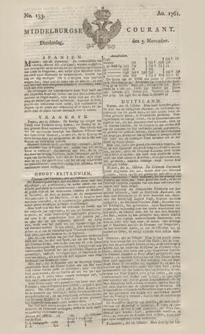 Middelburgsche Courant 1761-11-05