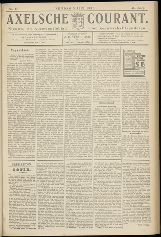 Axelsche Courant 1931-06-05
