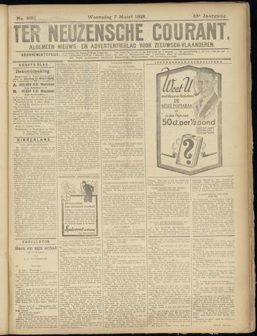 Ter Neuzensche Courant. Algemeen Nieuws- en Advertentieblad voor Zeeuwsch-Vlaanderen / Neuzensche Courant ... (idem) / (Algemeen) nieuws en advertentieblad voor Zeeuwsch-Vlaanderen 1928-03-07