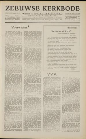 Zeeuwsche kerkbode, weekblad gewijd aan de belangen der gereformeerde kerken/ Zeeuwsch kerkblad 1958-08-29