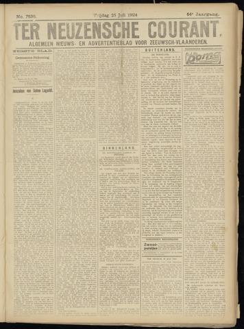Ter Neuzensche Courant. Algemeen Nieuws- en Advertentieblad voor Zeeuwsch-Vlaanderen / Neuzensche Courant ... (idem) / (Algemeen) nieuws en advertentieblad voor Zeeuwsch-Vlaanderen 1924-07-25