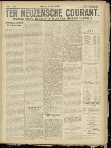 Ter Neuzensche Courant. Algemeen Nieuws- en Advertentieblad voor Zeeuwsch-Vlaanderen / Neuzensche Courant ... (idem) / (Algemeen) nieuws en advertentieblad voor Zeeuwsch-Vlaanderen 1923-07-20