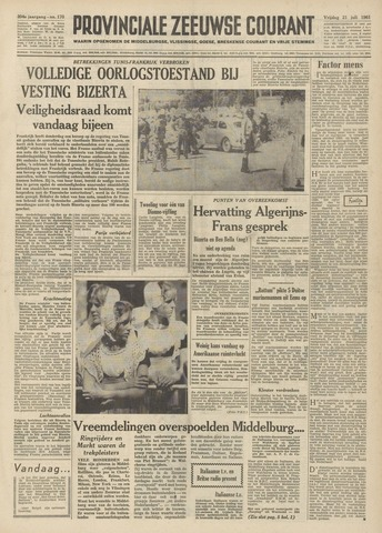 Provinciale Zeeuwse Courant 1961-07-21