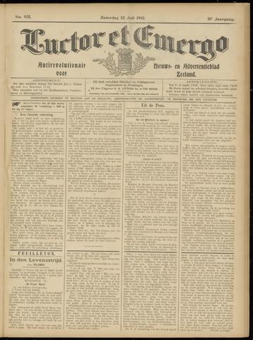 Luctor et Emergo. Antirevolutionair nieuws- en advertentieblad voor Zeeland / Zeeuwsch-Vlaanderen. Orgaan ter verspreiding van de christelijke beginselen in Zeeuwsch-Vlaanderen 1912-07-13