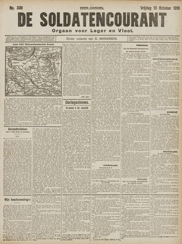 De Soldatencourant. Orgaan voor Leger en Vloot 1916-10-13