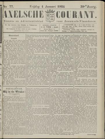 Axelsche Courant 1924-01-04