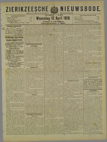 Zierikzeesche Nieuwsbode 1916-04-12
