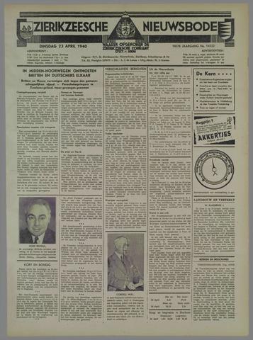 Zierikzeesche Nieuwsbode 1940-04-23