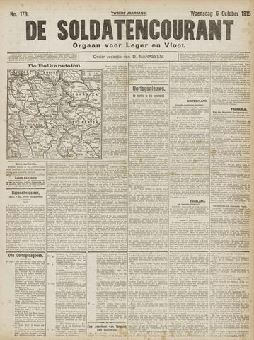 De Soldatencourant. Orgaan voor Leger en Vloot 1915-10-06