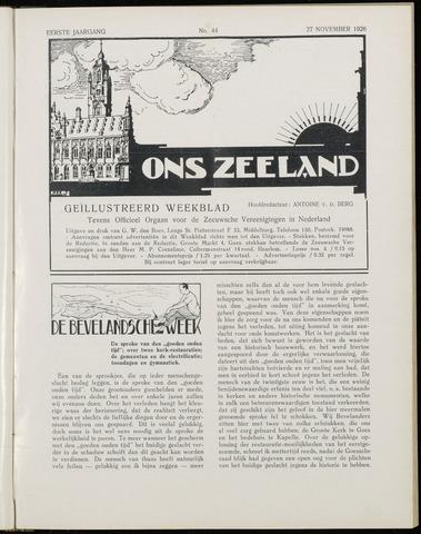 Ons Zeeland / Zeeuwsche editie 1926-11-27