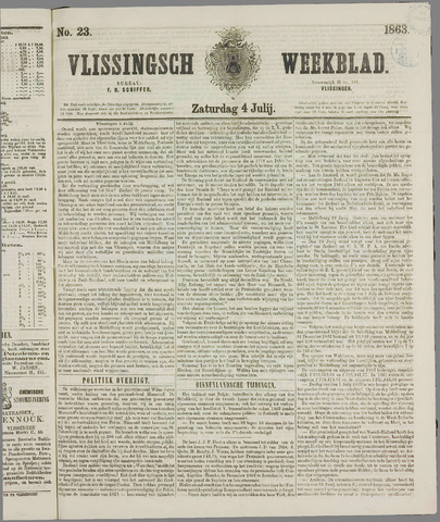 Vlissings Weekblad 1863-07-04