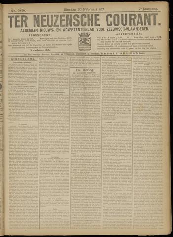 Ter Neuzensche Courant. Algemeen Nieuws- en Advertentieblad voor Zeeuwsch-Vlaanderen / Neuzensche Courant ... (idem) / (Algemeen) nieuws en advertentieblad voor Zeeuwsch-Vlaanderen 1917-02-20
