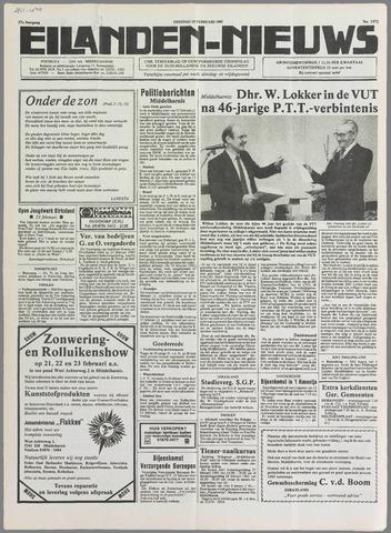 Eilanden-nieuws. Christelijk streekblad op gereformeerde grondslag 1985-02-19