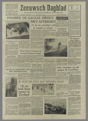 Zeeuwsch Dagblad 1958-06-03