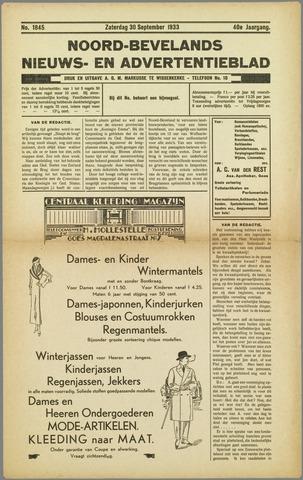 Noord-Bevelands Nieuws- en advertentieblad 1933-09-30