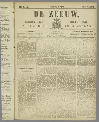 De Zeeuw. Christelijk-historisch nieuwsblad voor Zeeland 1888-04-05