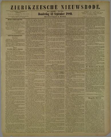 Zierikzeesche Nieuwsbode 1889-09-12