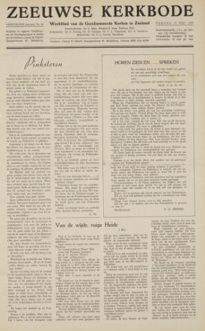 Zeeuwsche kerkbode, weekblad gewijd aan de belangen der gereformeerde kerken/ Zeeuwsch kerkblad 1959-05-15