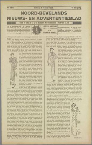 Noord-Bevelands Nieuws- en advertentieblad 1935