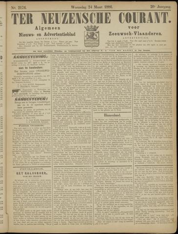 Ter Neuzensche Courant. Algemeen Nieuws- en Advertentieblad voor Zeeuwsch-Vlaanderen / Neuzensche Courant ... (idem) / (Algemeen) nieuws en advertentieblad voor Zeeuwsch-Vlaanderen 1886-03-24