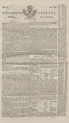Middelburgsche Courant 1762-02-23