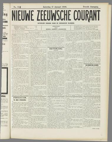 Nieuwe Zeeuwsche Courant 1906-01-27