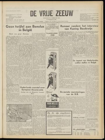 de Vrije Zeeuw 1953-02-25