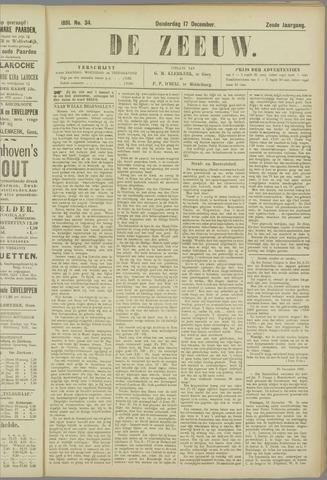 De Zeeuw. Christelijk-historisch nieuwsblad voor Zeeland 1891-12-17