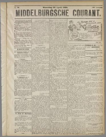 Middelburgsche Courant 1922-04-24