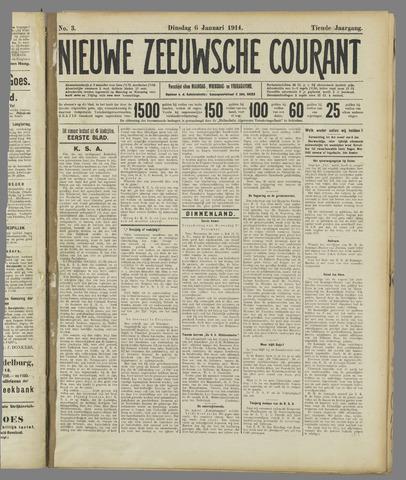 Nieuwe Zeeuwsche Courant 1914-01-06