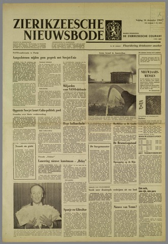 Zierikzeesche Nieuwsbode 1962-12-14
