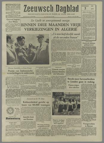 Zeeuwsch Dagblad 1958-06-05