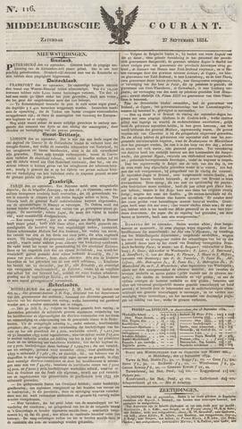 Middelburgsche Courant 1834-09-27