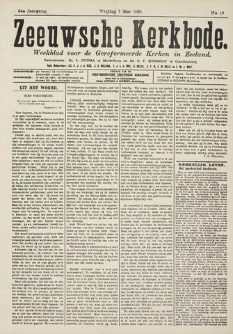 Zeeuwsche kerkbode, weekblad gewijd aan de belangen der gereformeerde kerken/ Zeeuwsch kerkblad 1920-05-07