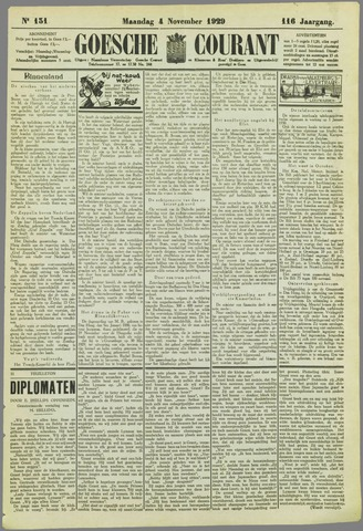 Goessche Courant 1929-11-04