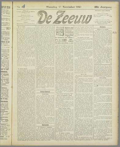 De Zeeuw. Christelijk-historisch nieuwsblad voor Zeeland 1921-11-21