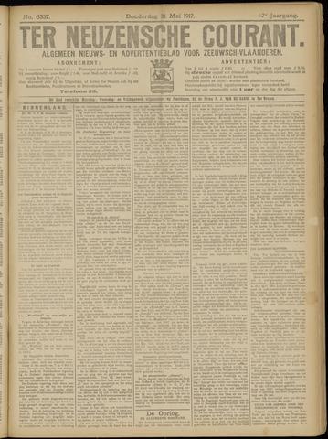 Ter Neuzensche Courant. Algemeen Nieuws- en Advertentieblad voor Zeeuwsch-Vlaanderen / Neuzensche Courant ... (idem) / (Algemeen) nieuws en advertentieblad voor Zeeuwsch-Vlaanderen 1917-05-31