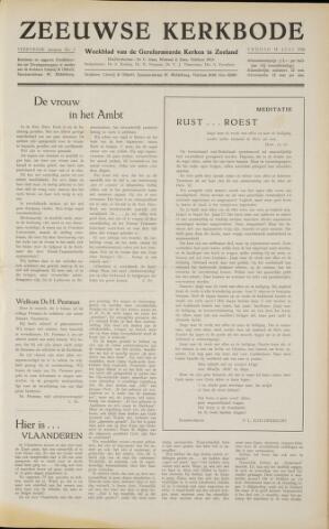 Zeeuwsche kerkbode, weekblad gewijd aan de belangen der gereformeerde kerken/ Zeeuwsch kerkblad 1958-07-18