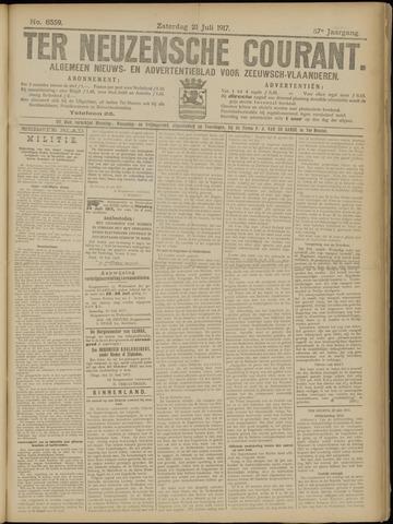 Ter Neuzensche Courant. Algemeen Nieuws- en Advertentieblad voor Zeeuwsch-Vlaanderen / Neuzensche Courant ... (idem) / (Algemeen) nieuws en advertentieblad voor Zeeuwsch-Vlaanderen 1917-07-21