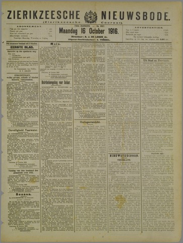 Zierikzeesche Nieuwsbode 1916-10-16