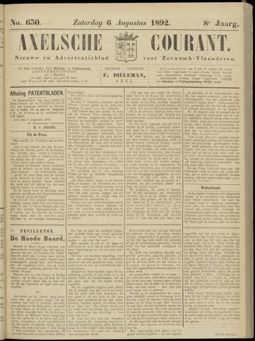 Axelsche Courant 1892-08-06