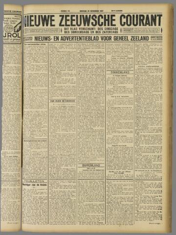 Nieuwe Zeeuwsche Courant 1927-11-22