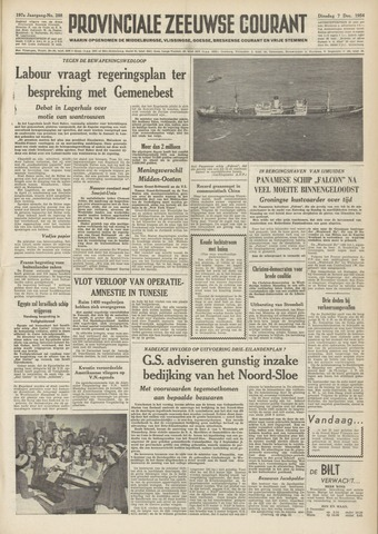 Provinciale Zeeuwse Courant 1954-12-07