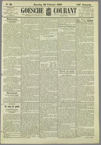 Goessche Courant 1932-02-22